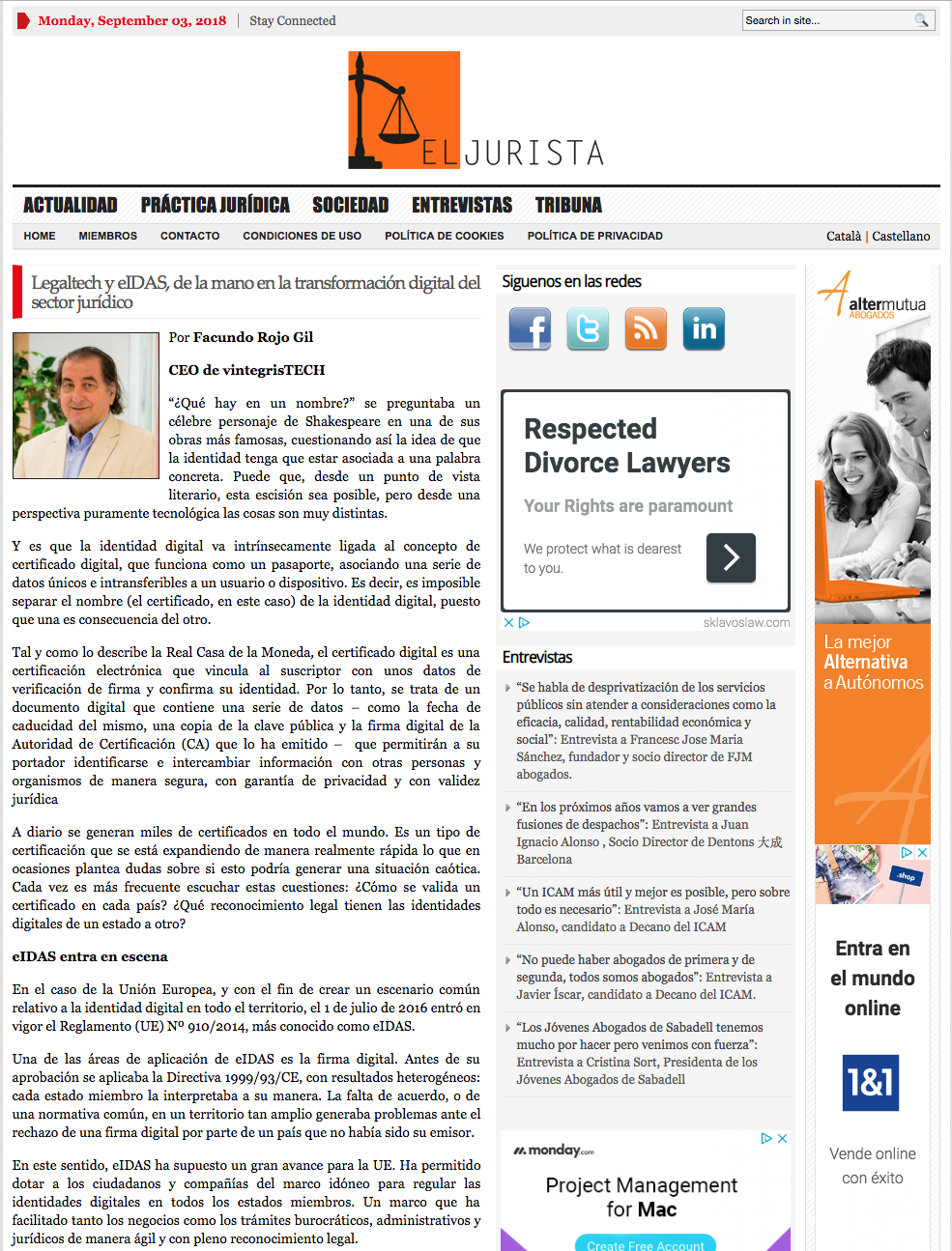 El jurista article_Legaltech an eIDAS