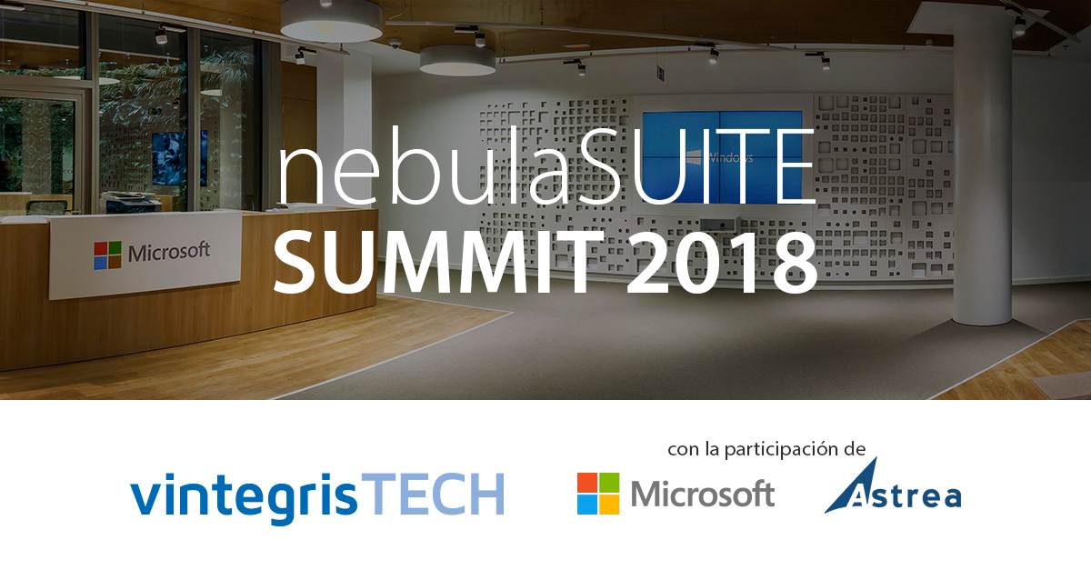 nebulaSUITE SUMMIT 2018 with the participation of Microsoft and Astrea