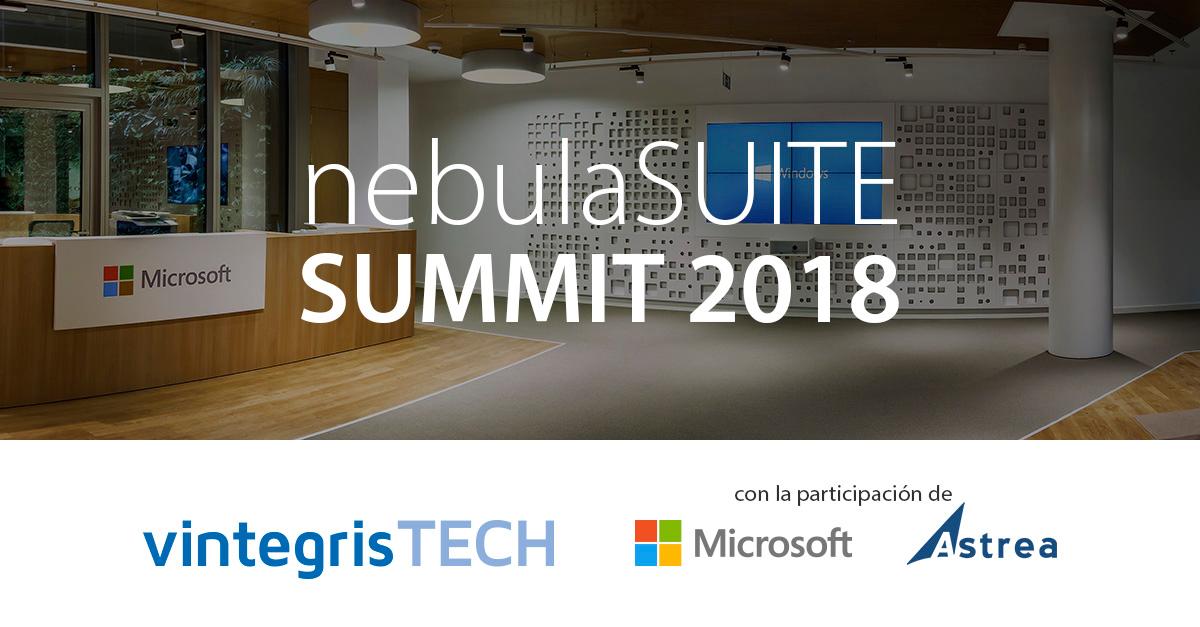 nebulaSUITE SUMMIT 2018 amb la col·laboració de Microsoft i Astrea