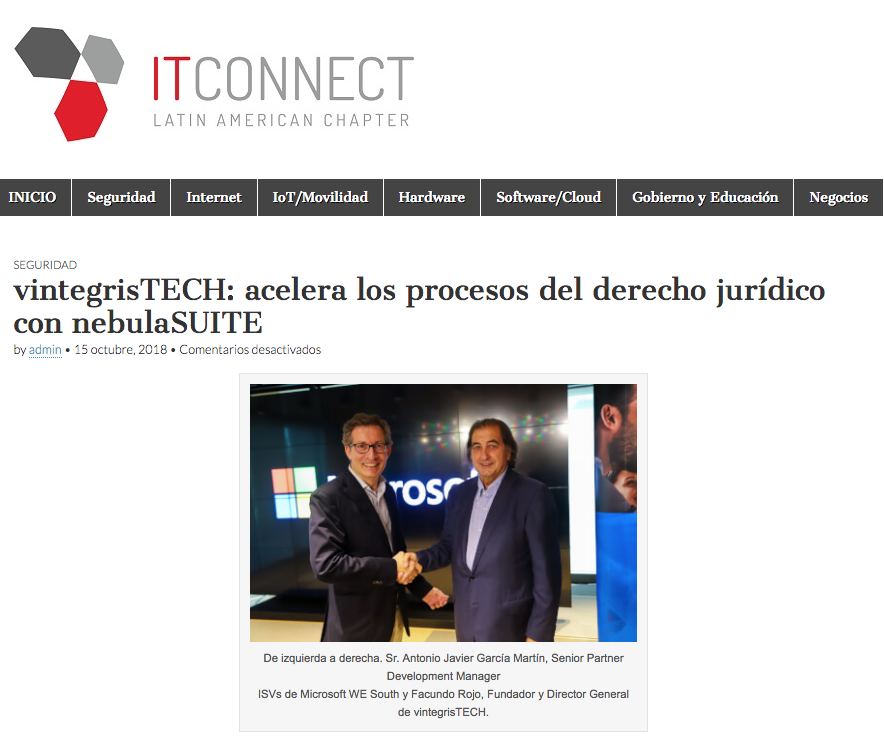 IT Conncect Latin American Chapter _ noticia nebulaSUITE SUMMIT